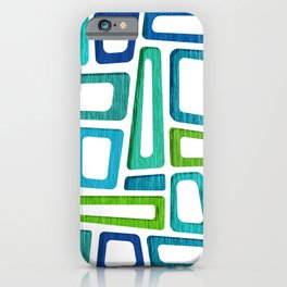 Mid Century Boxy Abstract iPhone Case