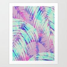 Maui Palm {Pink A} Art Print