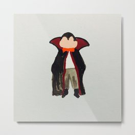 Trick or Treat Halloween Toddler Vampire Dracula Metal Print
