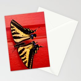 tiger swallowtail butterfly on unusual background Stationery Cards