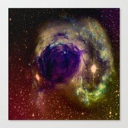 Galaxy Warps Canvas Print
