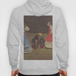 Croquet Scene 1864 By WinslowHomer | Reproduction Hoody