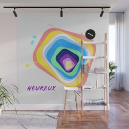 Heureux Wall Mural