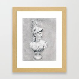 Athena Bust Sculpture Framed Art Print