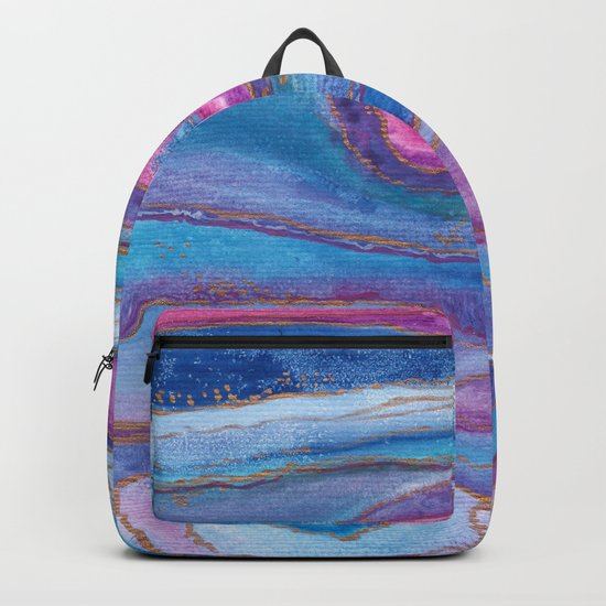AGATE Inspired Watercolor Abstract 05 Backpack