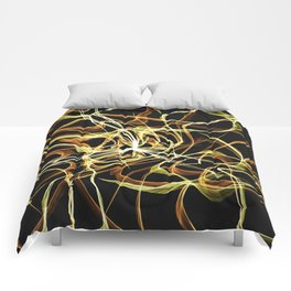 Hearts of Gold Warped Comforters
