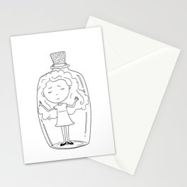 Girl in a Bottle Stationery Cards