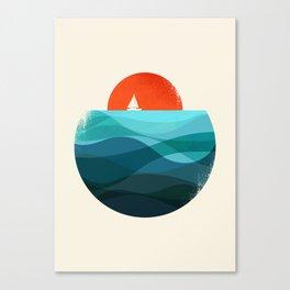 Deep blue ocean Canvas Print