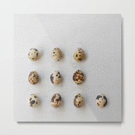 Fresh Quail Eggs Metal Print