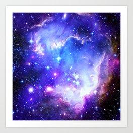 Galaxy Nebula Blue Art Print