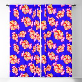 Cute lovely sweet festive decorative candy pattern on blue background. Candy store. Blackout Curtain