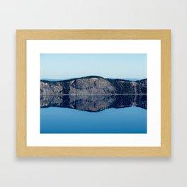 Crater Lake Reflection Framed Art Print