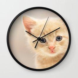 Ginger Kitten Wall Clock
