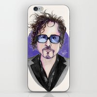 tim burton iPhone & iPod Skins featuring TIM BURTON by ●•VINCE•●