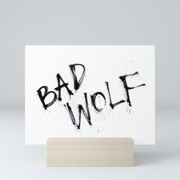 Doctor Who bad wolf Mini Art Print