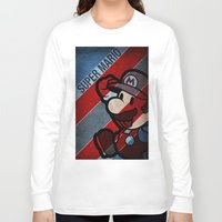 super mario Long Sleeve T-shirts featuring SUPER MARIO by sbs' things