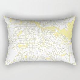 Amsterdam White on Yellow Map Rectangular Pillow