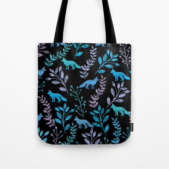 Watercolor Floral & Fox IV Tote Bag