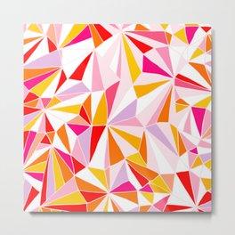 Crazy Geometry 2. Orange, Pink & Red Metal Print