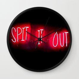 Spit It Out Wall Clock