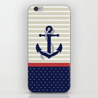 navy iPhone & iPod Skins featuring Navy by Vickn