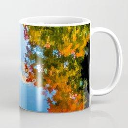 Fall leaves on river 8 Coffee Mug