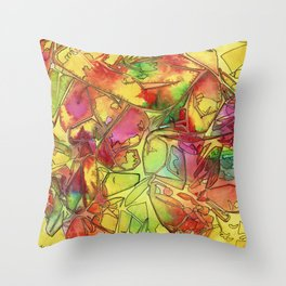 Wild Expansive Colors Throw Pillow