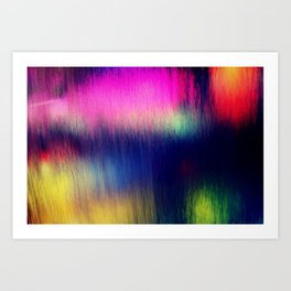 Colored water Art Print