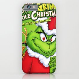 smile stole christmas grinc grinchs iPhone Case