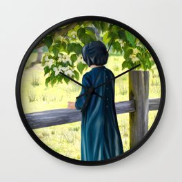 Little Amish Girl Wall Clock