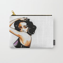 Brunette girl Carry-All Pouch