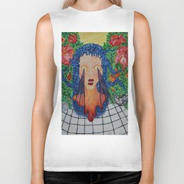seethrough surreal paint big Biker Tank