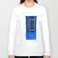 greek Long Sleeve T-shirts featuring Greek Blue by Steve P Outram