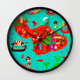 Maui Map Wall Clock