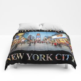 Times Square Sparkle (with type on black) Comforters
