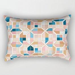Mediterranean Geometric Shapes I. Rectangular Pillow