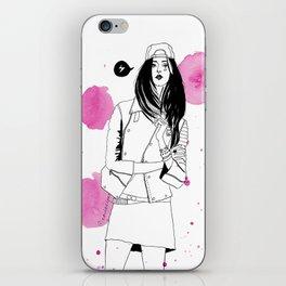 I am a girl iPhone Skin