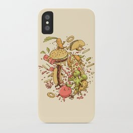 Food Fight iPhone Case