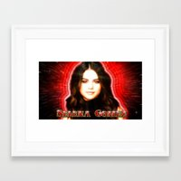 selena gomez Framed Art Prints featuring Dedication #1 - Selena Gomez #1 by InnerSymbiance