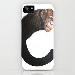 C-Chimpanzee iPhone Case