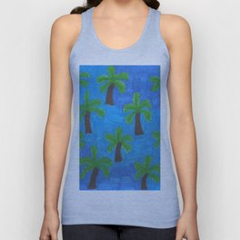 Palm Trees in the Ocean Unisex Tank Top
