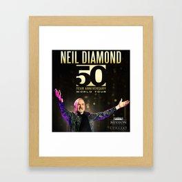 NEIL DIAMOND 50TH ANNIVERSARY WORLD TOUR DATES 2019 KAMBOJA Framed Art Print