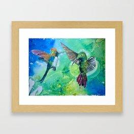 Hummingbird Heaven Framed Art Print