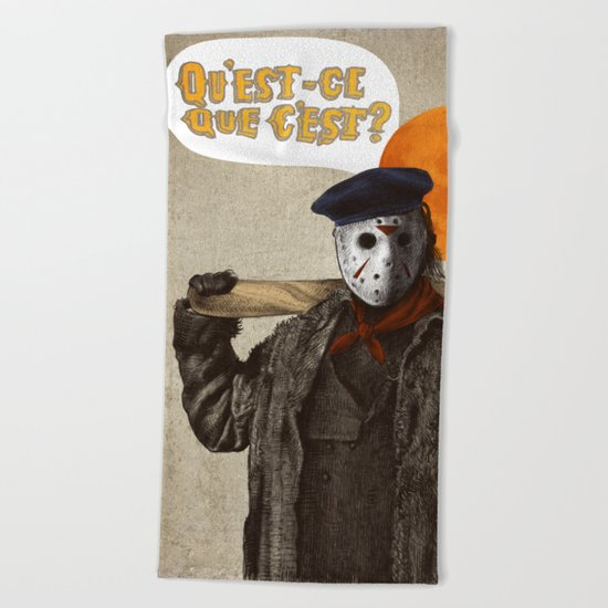 Psycho Killer Beach Towel