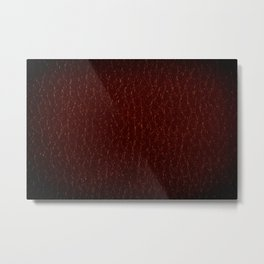 Maroon porous leather sheet texture abstract Metal Print