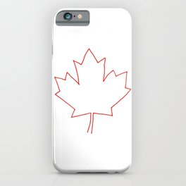 One line Canada iPhone Case