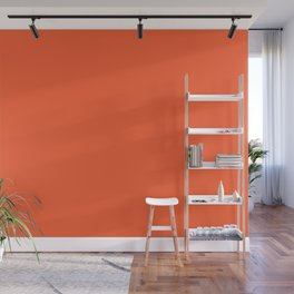 Persimmon - Orange Bright Tangerine Solid Color Wall Mural
