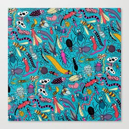Bug Pattern Canvas Print