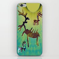 reindeer iPhone & iPod Skins featuring reindeer by donphil