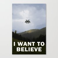 i want to believe Canvas Prints featuring I Want To Believe by Literary Mint